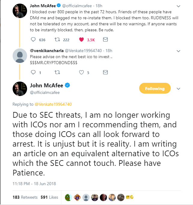 McAfee Says Adios to ICOs